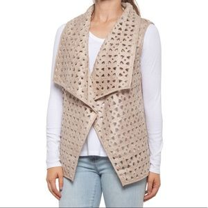 dylan Faux-Suede and Sherpa Fleece Diana Vest